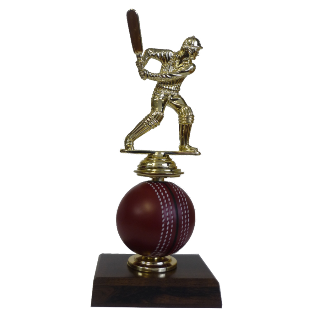 Spinning Cricket Ball Figurine Trophy