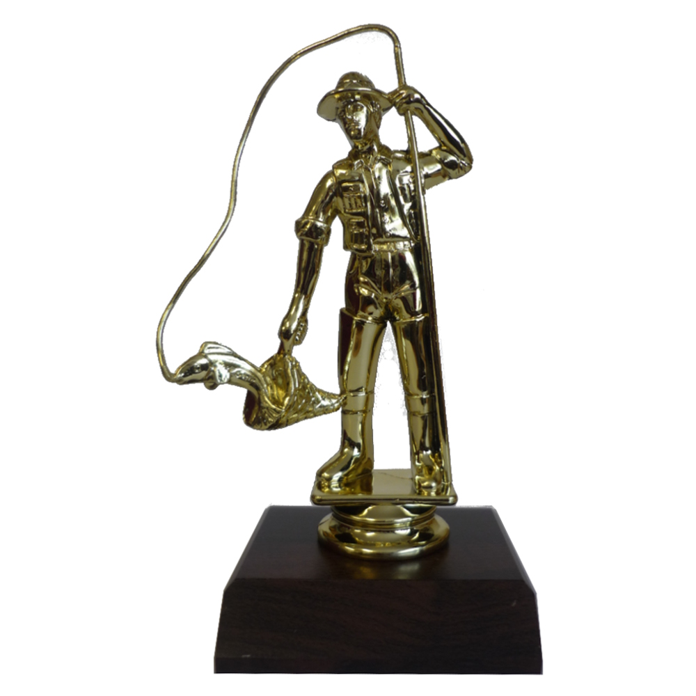 Fisherman Trophy Figurine