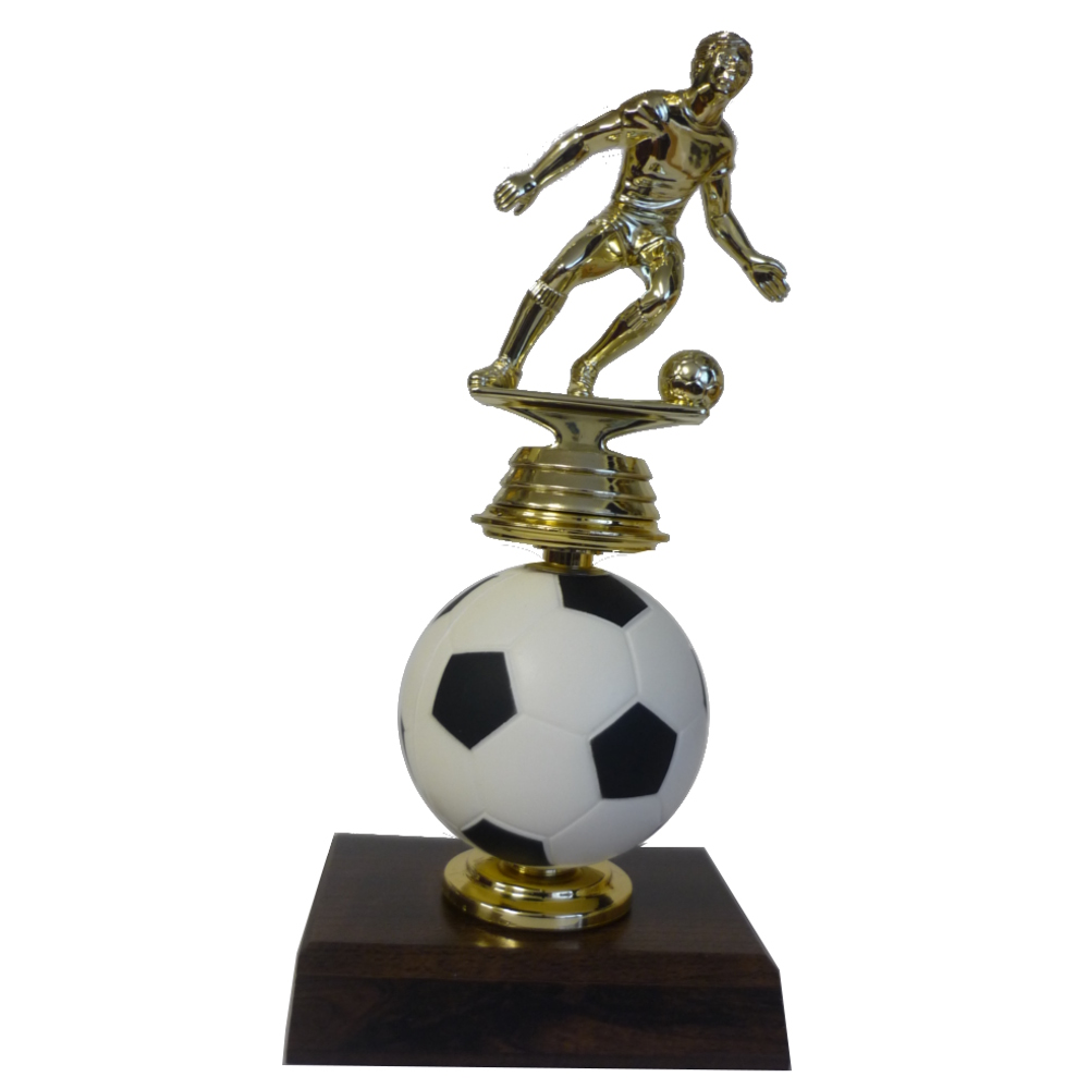 Spinning Soccer Ball Figurine Trophy