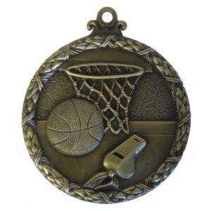Gold Wreath Basketball Medal