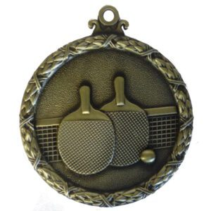 Gold Wreath Table Tennis Medal