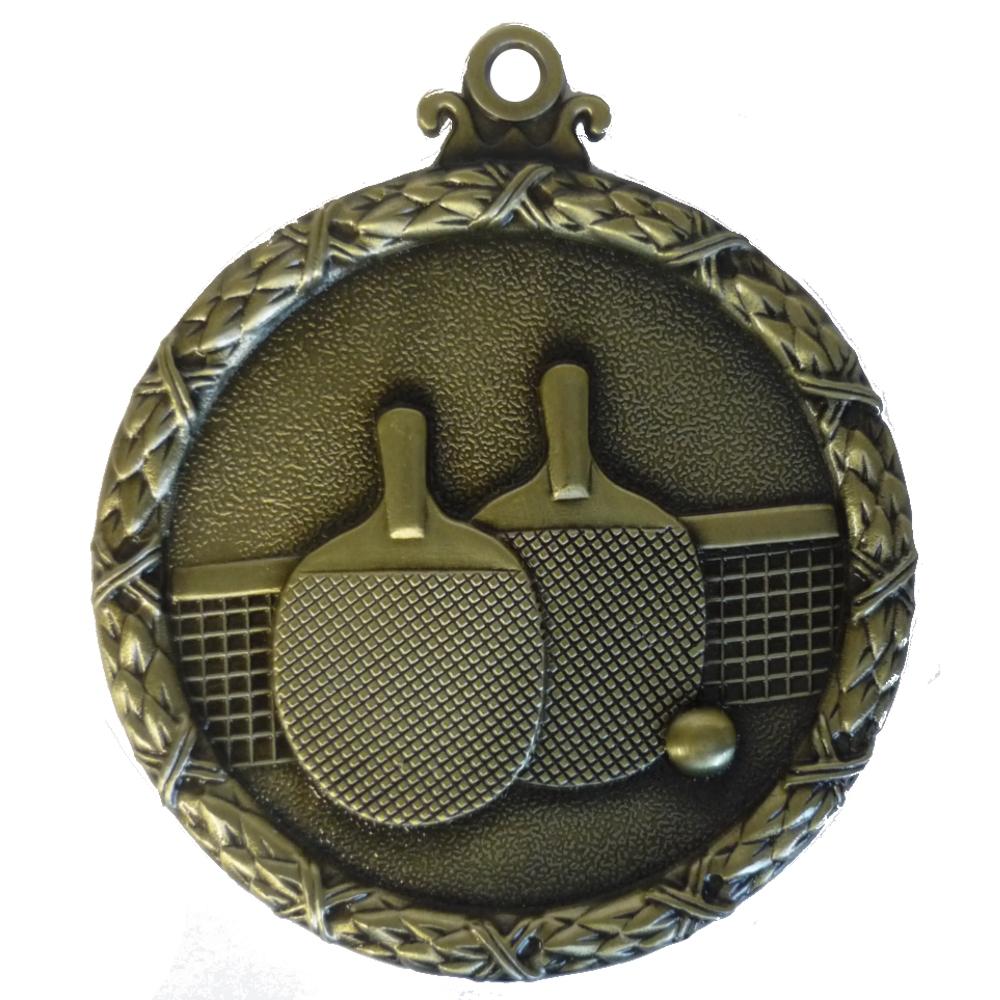 Gold Wreath Table Tennis Medal