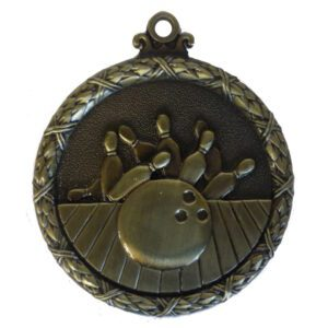 Gold Wreath Ten Pin Bowling Medal