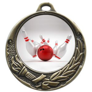 50mm Insert Ten Pin Bowling Medal