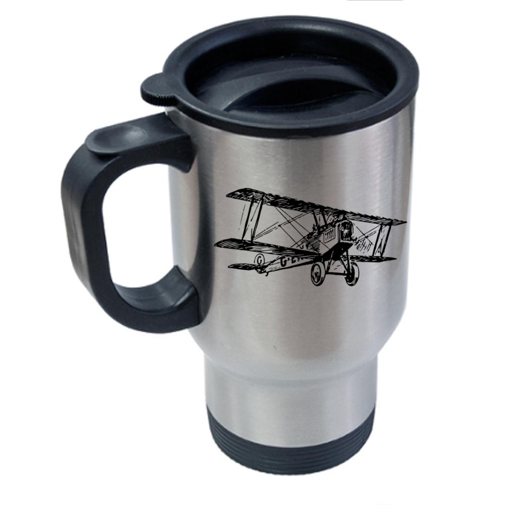 Biplane Travel Mug