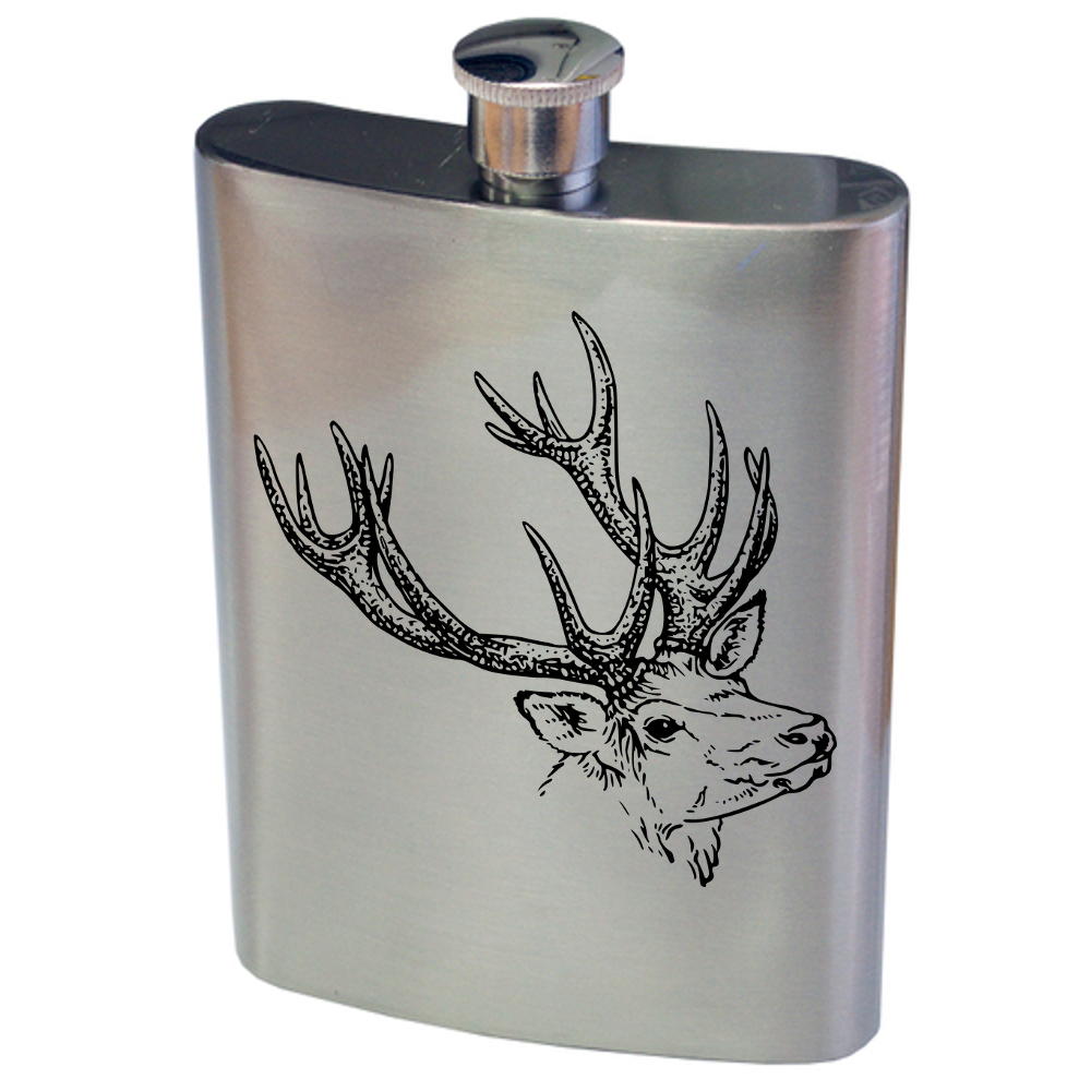 Reindeer Hip Flask