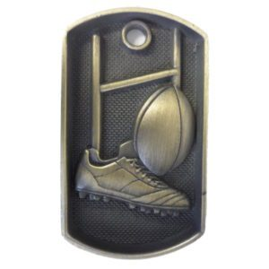 Dog Tag Rugby Medal