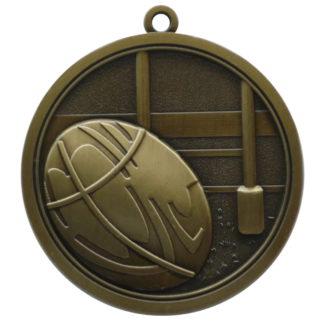 Hi-Relief Rugby Medal