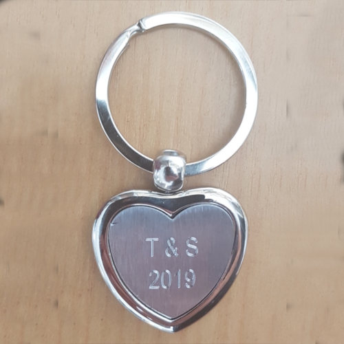 Engraved Heart Key Ring