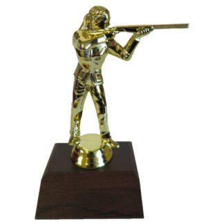 Trapshooter Female Figurine
