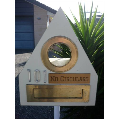 Engraved No Circulars Sign On Letterbox