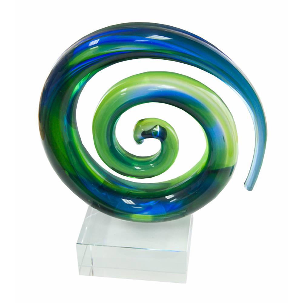 Koru Spiral Crystal Award