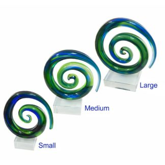 Koru Spiral Crystal Awards