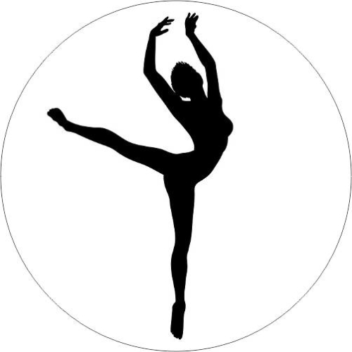 Modern dance silhouette-female