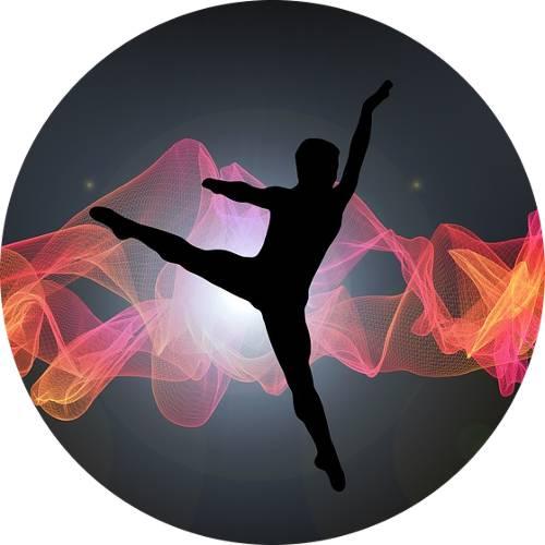 Modern dance silhouette-male