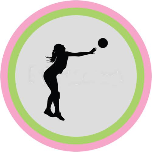 Volleyball Female Silhouette