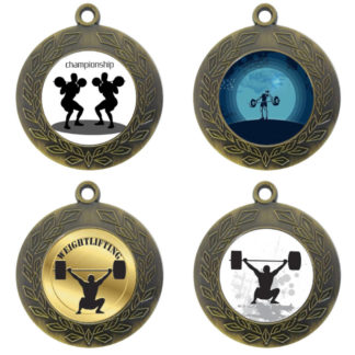 25mm Insert Weightlifting Medal