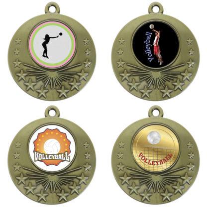 25mm Insert Volleyball Medal