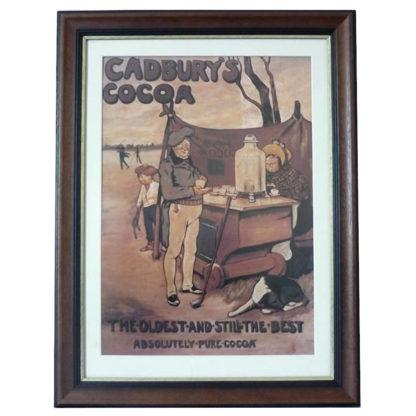 Framed Cadbury Cocoa Server