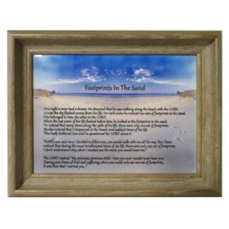 'Footprints in the Sand' Framed Tile