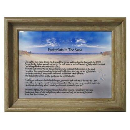 'Footprints in the Sand' Framed Tile