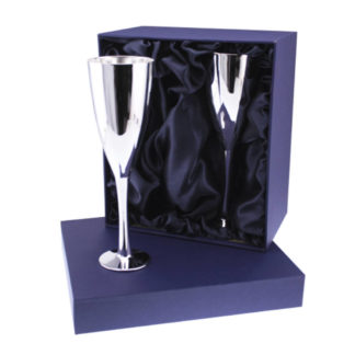 Silver Plated Champagne Flute - Pair