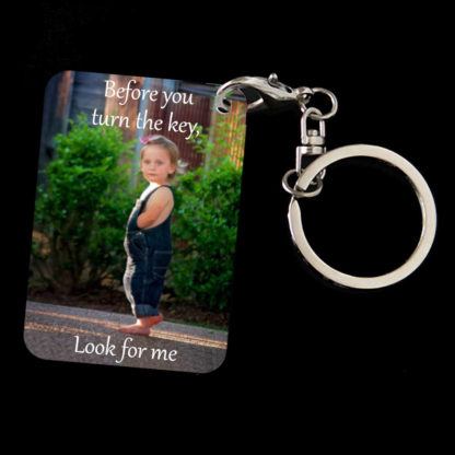Safety Message key chain