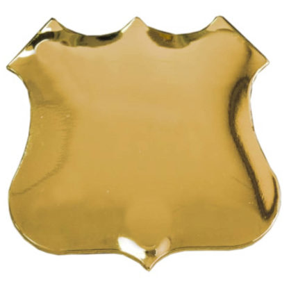 Gold Plated Shield Brooch