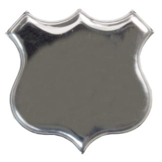Silver Plated Shield Brooch