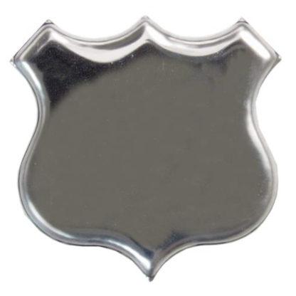 Silver Plated Shield Brooch