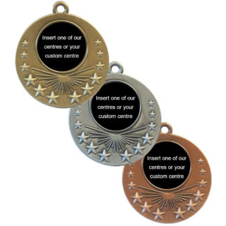 Antique Sunburst Insert Medals