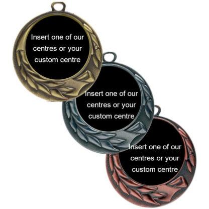 Antique Ribbon & Leaf Insert Medals