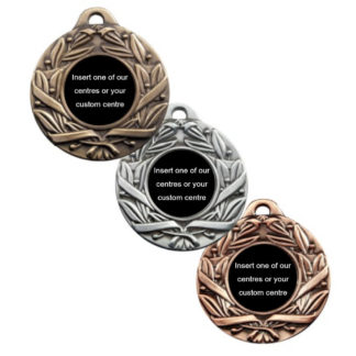 Antique Leaf & Scroll Insert Medals