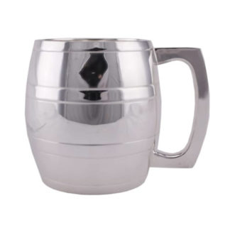 Silver Plated Barrel Tankard