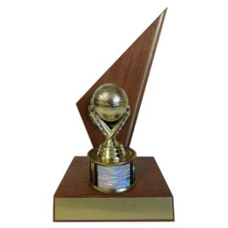 Solid Wood Basketball Trophy
