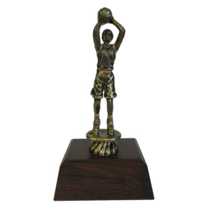 Basketball Girl -Antique Gold