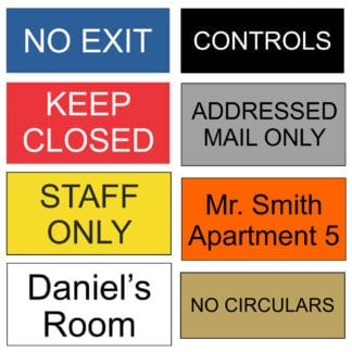 Engraved Plastic Signs