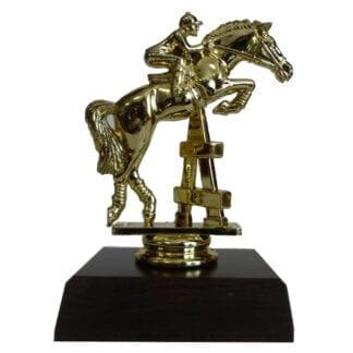 Horse Jumping Figurine