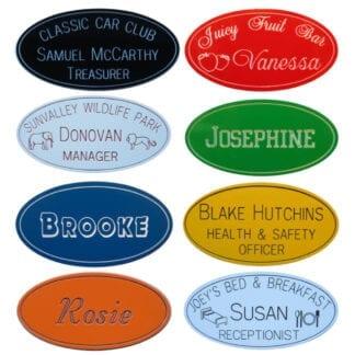 Engraved Oval Name Badges